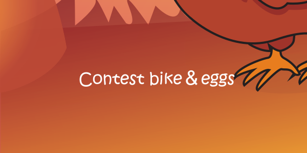 Contest bike & eggs...